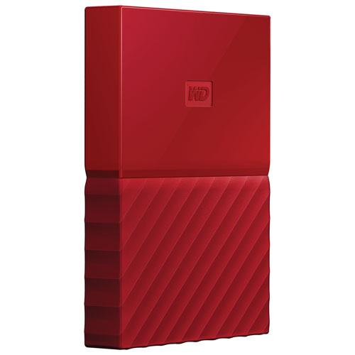 WD My Passport 3TB 2.5 USB 3.0 Portable External Hard Drive (WDBYFT0030BRD-WESN) - Red