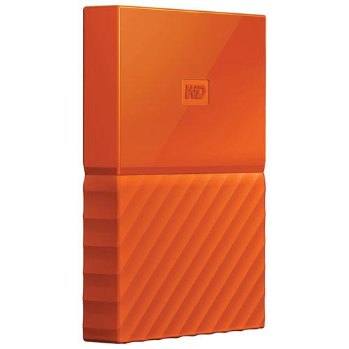 WD My Passport 1TB 2.5 USB 3.0 Portable External Hard Drive (WDBYNN0010BOR-WESN) - Orange