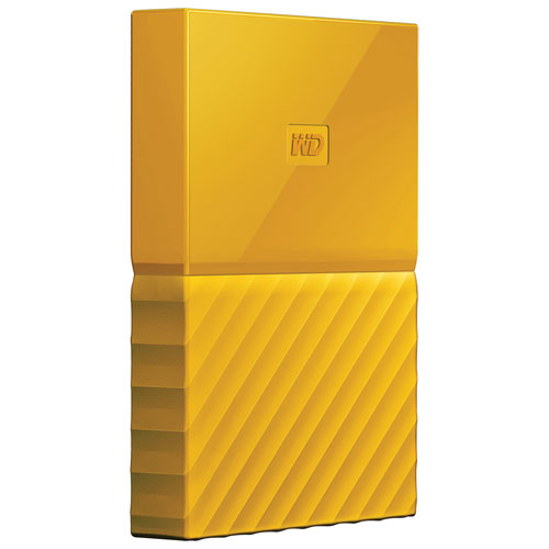 WD My Passport 1TB 2.5 USB 3.0 Portable External Hard Drive (WDBYNN0010BYL-WESN) - Yellow