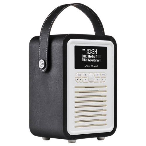 VQ Retro Mini Bluetooth Clock Radio - Black