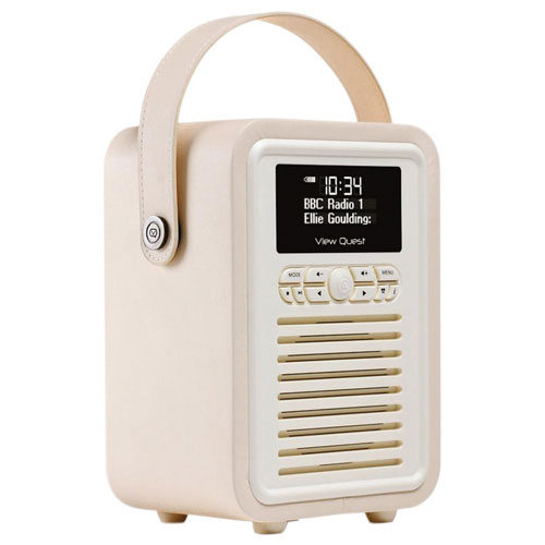 VQ Retro Mini Wireless Bluetooth Clock Radio (VQ-MINI-CR/US) - Cream