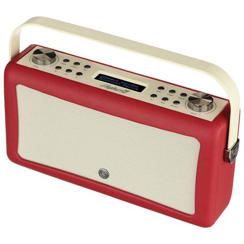 Radio-réveil Bluetooth Hepburn Mk II de VQ - Rouge