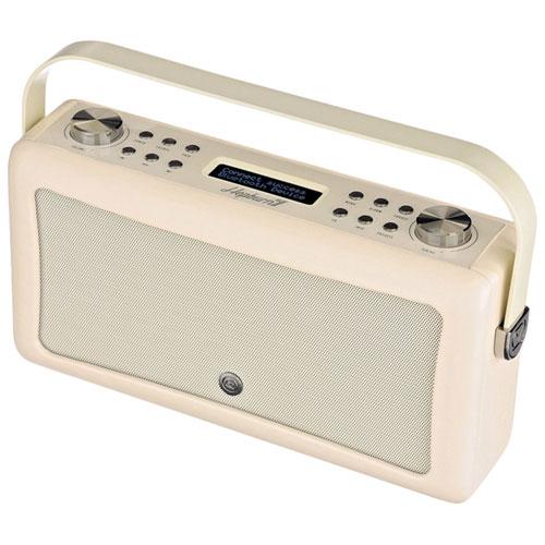 Radio-réveil Bluetooth Hepburn Mk II de VQ - Crème