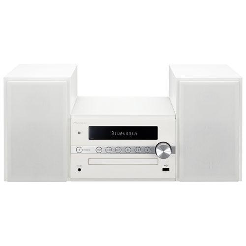 Système haute-fidélité miniature X-CM56W avec Bluetooth de Pioneer - Blanc