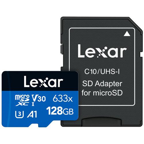 Lexar Media 128GB 95MB/s microSDXC Class 10 Memory Card