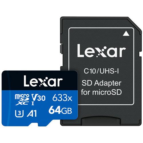 Lexar Media 64GB 95MB/s microSDXC Class 10 Memory Card