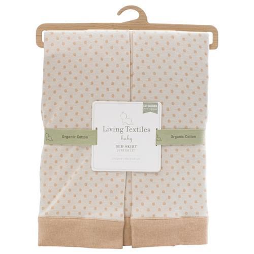 Lolli Living Organic Bed Skirt Polka Dot Crib Skirts Best Buy