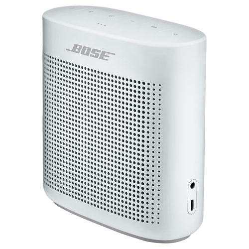 Haut-parleur portatif étanche Bluetooth SoundLink Color II de Bose - Blanc