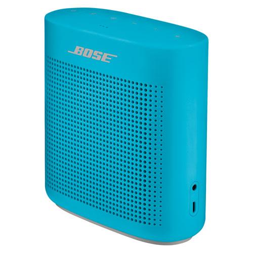 Haut-parleur portatif étanche sans fil Bluetooth SoundLink Color II de Bose - Bleu