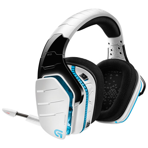 Logitech G933 On-Ear Wireless Gaming Headphones - White