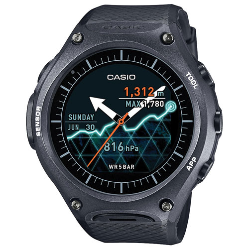 Casio WSD-F10 Smart Outdoor Smartwatch - Large - Black