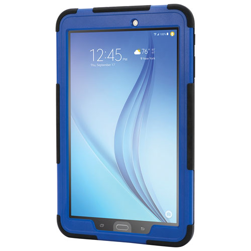 Étui robuste Survivor Slim de Griffin pour Galaxy Tab E de 9,6 po de Samsung - Noir-bleu