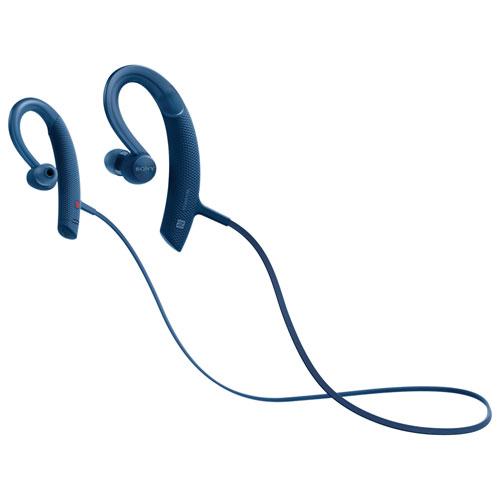 Écouteurs bouton sans fil sport de Sony (MDRXB80BS/L) - Bleu