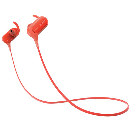 Sony In-Ear Wireless Sport Headphones with Mic (MDRXB50BS/R) - Red