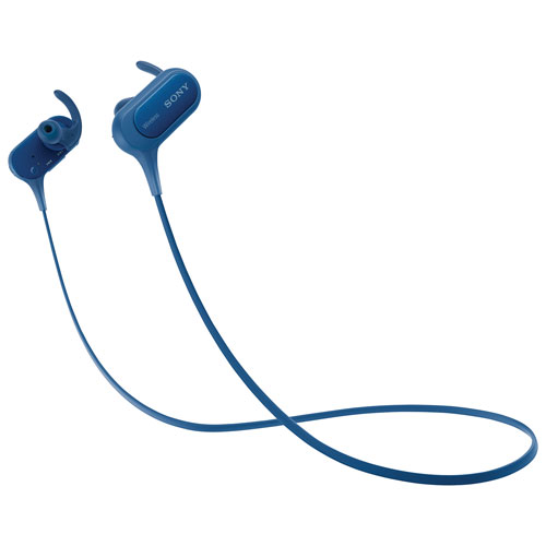 Écouteurs bouton sans fil sport avec microphone de Sony (MDRXB50BS/L) - Bleu
