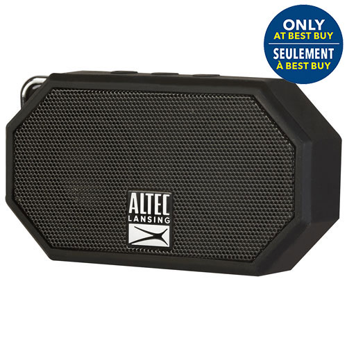 Altec Lansing Mini H2O II Waterproof Mudproof Snowproof Dustproof Wireless Bluetooth Speaker - Black - Only at Best Buy
