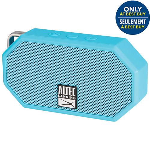 Enceinte sans fil BT Mini H2O II Altec Lansing résistant à eau/neige/poussière-Bleu-Exclus. Best Buy