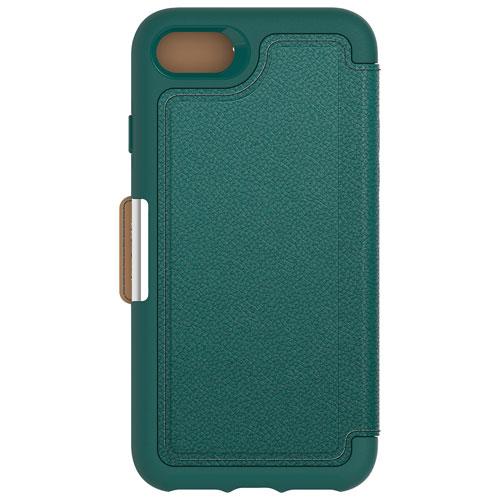 Étui souple ajusté en cuir Strada d'OtterBox pour iPhone 7/8 - Sarcelle