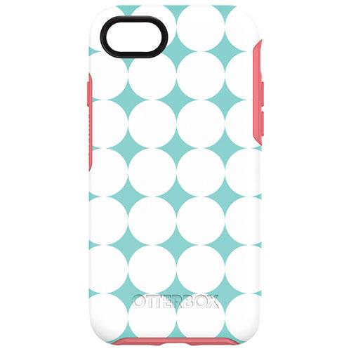 Étui rigide ajusté Symmetry d'OtterBox pour iPhone 7/8 - Motif aqua-rose
