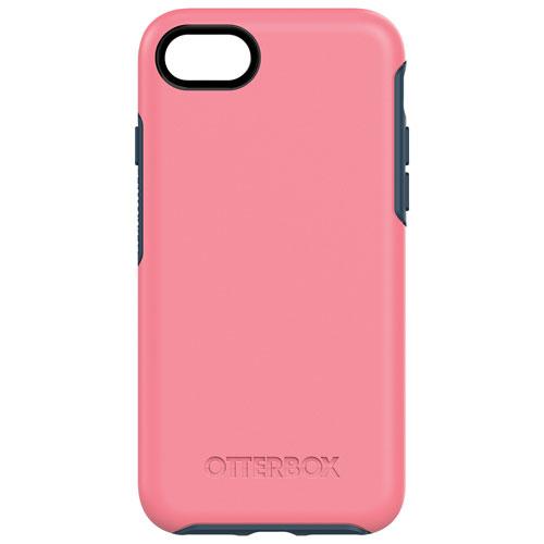 Étui rigide ajusté Symmetry d'OtterBox pour iPhone 7/8 - Rose-bleu