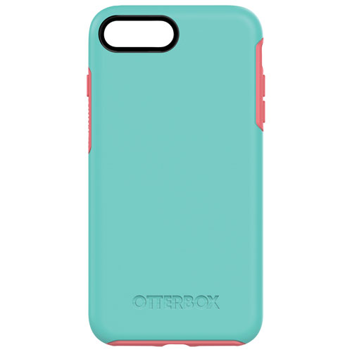 Étui rigide ajusté Symmetry d'OtterBox pour iPhone 7 Plus - Aqua-rose