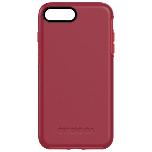 Étui rigide ajusté Symmetry d'OtterBox pour iPhone 7 Plus - Rouge