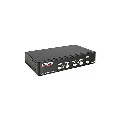 StarTech 4 Port DVI USB KVM Switch with Audio and USB 2.0 Hub