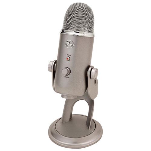 Microphone USB à condensateur cardioïde Yeti de Blue Microphones pour ordinateur de bureau