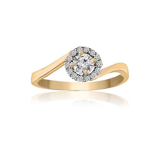 Size 11 Enement Rings | 0 4 Carats T W Diamonds Round Cut Engagement Ring Size 11 0 4