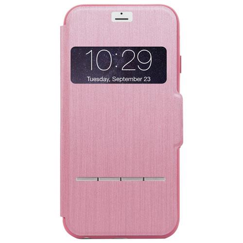 Étui rigide ajusté SenseCover de Moshi pour iPhone 7 - Rose