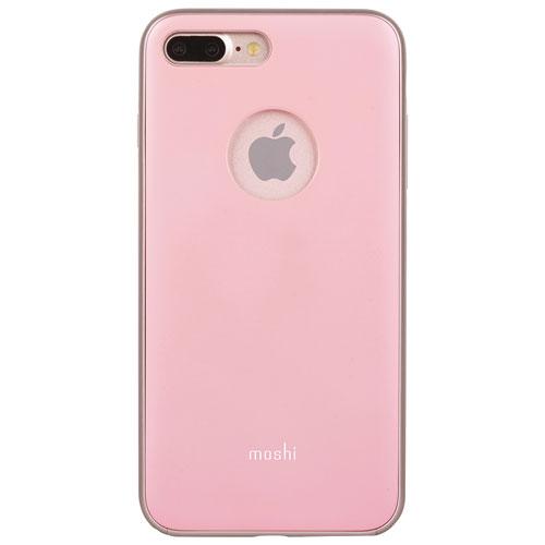 Étui rigide ajusté iGlaze de Moshi pour iPhone 7/8 Plus - Rose