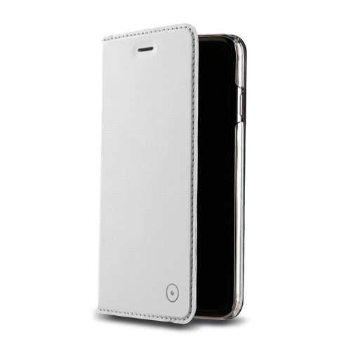 Étui folio en cuir avec support de Muvit pour iPhone 7/8 - Blanc