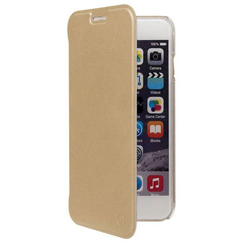 Muvit iPhone 7/8 Plus Leather Folio Case - Gold