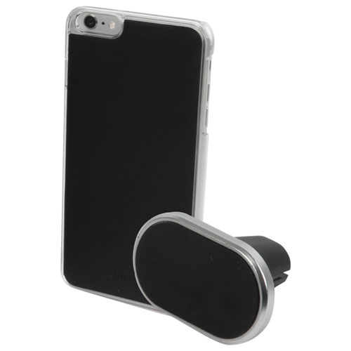 Muvit iPhone 7/8 Fitted Soft Shell Case with Car Air Vent Holder - Black