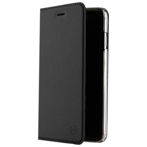 Étui folio en cuir de Muvit pour iPhone 7/8 Plus - Noir