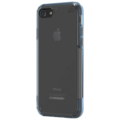 Puregear Slim Pro iPhone 7 Fitted Soft Shell Case - Clear/Blue
