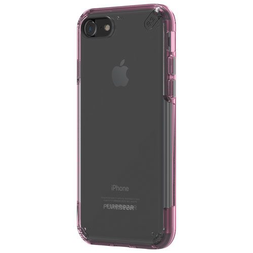 Puregear Slim Pro iPhone 7 Fitted Soft Shell Case - Clear/Pink