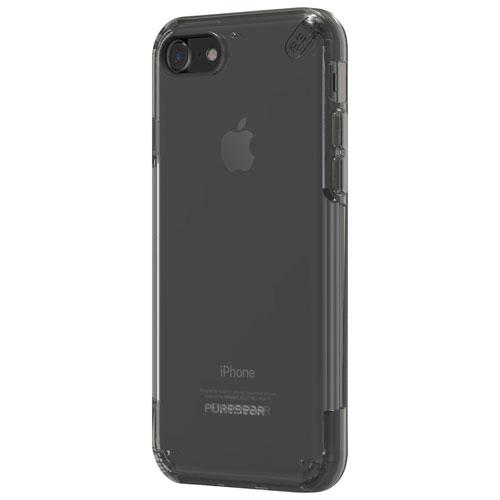 Étui souple ajusté Slim Pro de PureGear pour iPhone 7 - Transparent - Gris