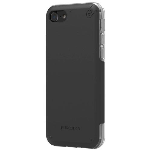 Étui souple ajusté DualTek Pro de PureGear pour iPhone 7 - Noir - Transparent