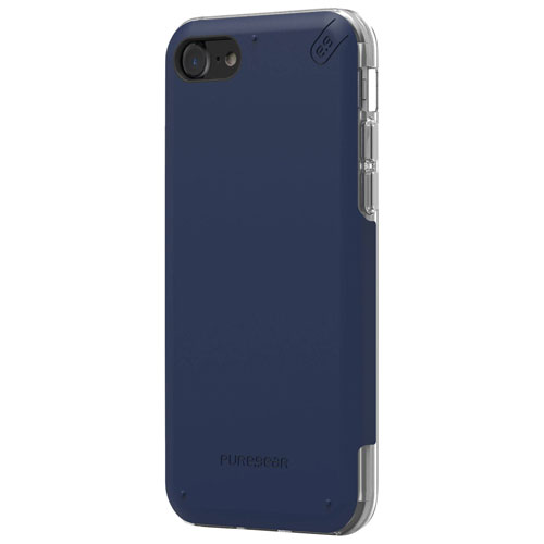Puregear Dualtek Pro iPhone 7 Fitted Soft Shell Case - Blue/Clear