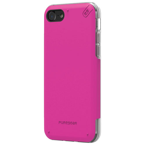 Étui souple ajusté DualTek Pro de PureGear pour iPhone 7 - Rose - Transparent