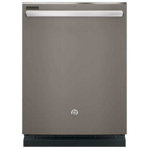 """GE Profile 24"""" 48 dB Built-In Dishwasher (GDT635HMJES) - Slate"""
