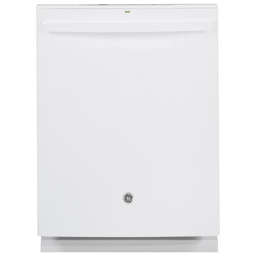 Lave-vaisselle encastrable 24 po 46 dB de GE à cuve en acier inoxydable (GDT655SGJWW) - Blanc