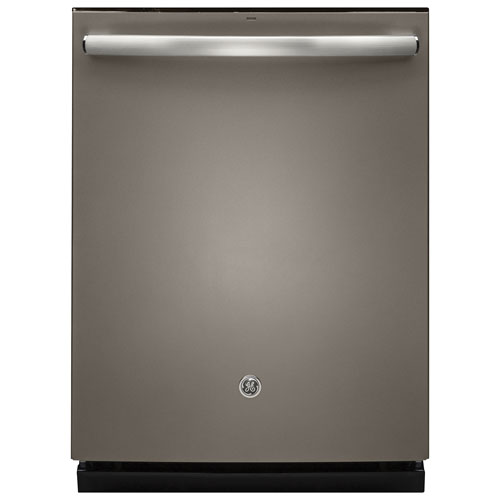 """GE 24"""" 46 dB Built-In Dishwasher with Stainless Steel Tub (GDT655SMJES) - Slate"""