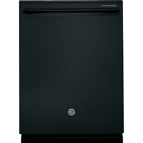 """GE Profile 24"""" 45 dB Dishwasher with Stainless Steel Tub & Third Rack (PDT660SGFBB) - Black"""