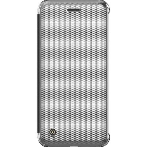 Étui rigide ajusté Jet Set avec rabat de STI:L pour iPhone 7/8 - Argenté