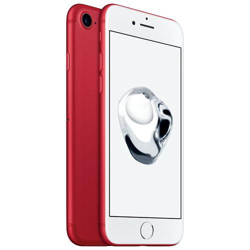 iPhone 7 256 Go d'Apple avec Telus- Rouge - Forfait Extra Plus - Entente de 2 ans