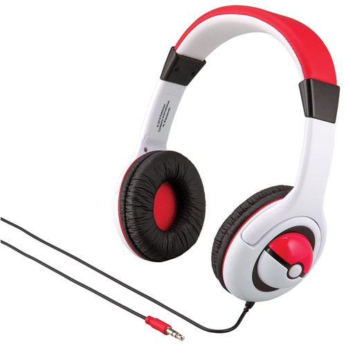 KIDdesigns Pokémon Over-Ear Kids Headphones (PK-140.FXv6) - White/Red