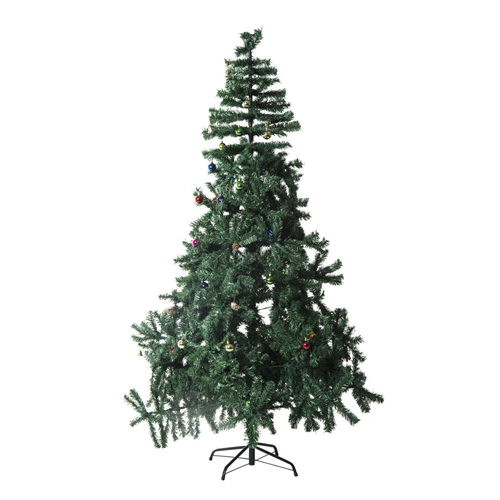 HOMCOM 6.9FT Artificial Christmas Tree Xmas Holiday Party Decoration with Ornament Green