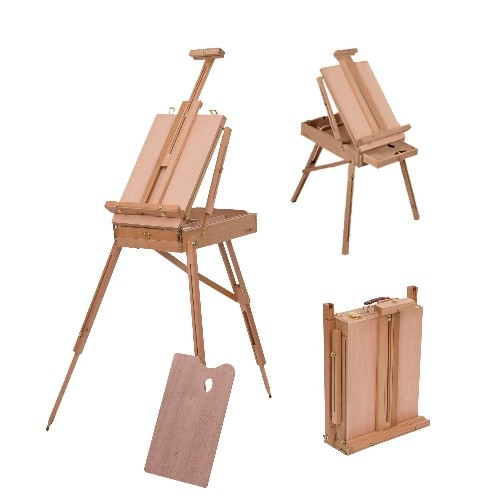 HOMCOM Folding Wood French Artists Easel Set Portable Art Painters Tripod Sketch craft